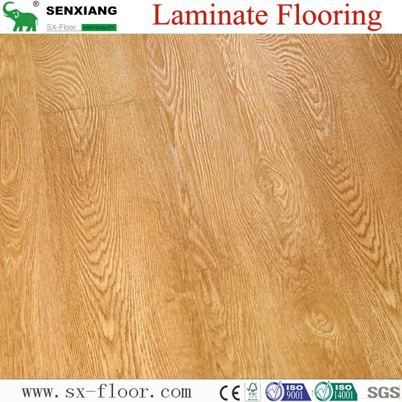 German Technology HDF Glossy Waterproof Locking Laminated Laminate Flooring