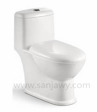 one pieces toilet siphonic flushing wc ceramic toilet