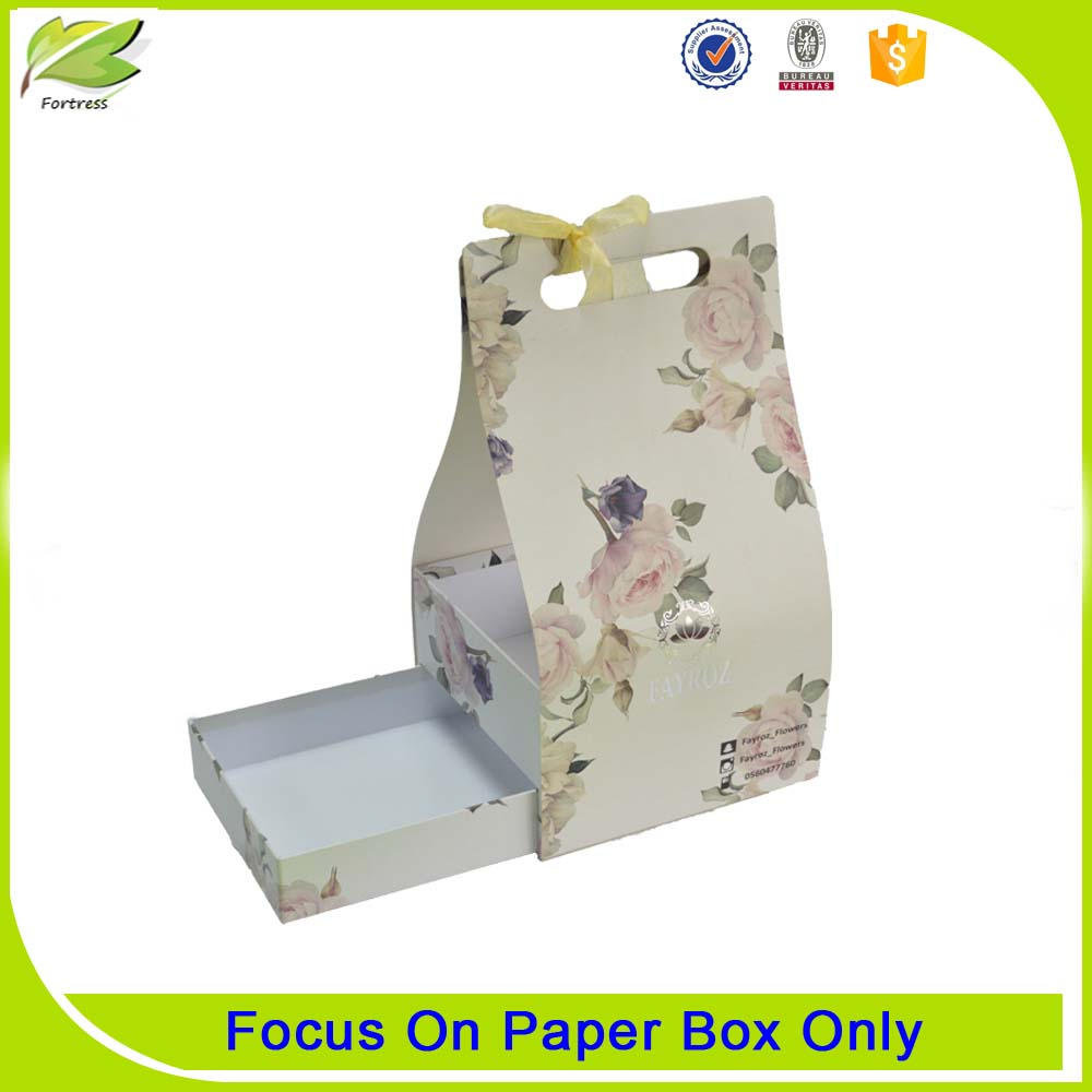 Handmade paper flower bouquet packaging boxes