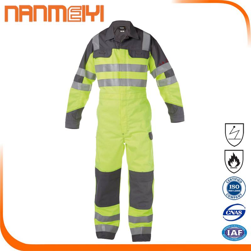 Wholesale Custom anti-static fire resistant coverall work clothes