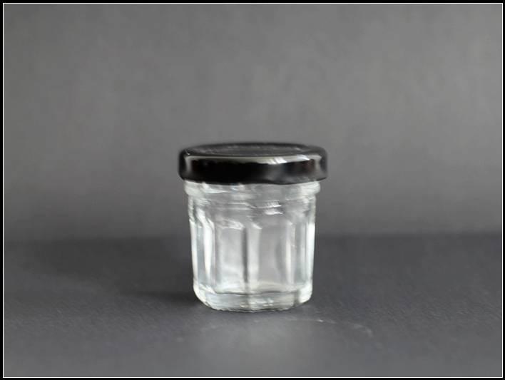 20ml min glass caviar jar with cap