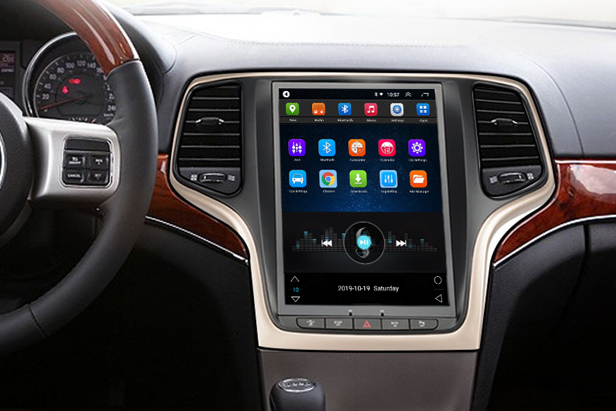 Vertical Screen 10.4 Inch Android Car Multimedia Navigation For Jeep Grand Cherokee 2014-2018