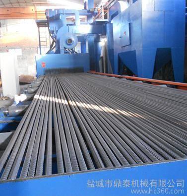 Dingtai roller conveyor through type steel bar shot blasting machine