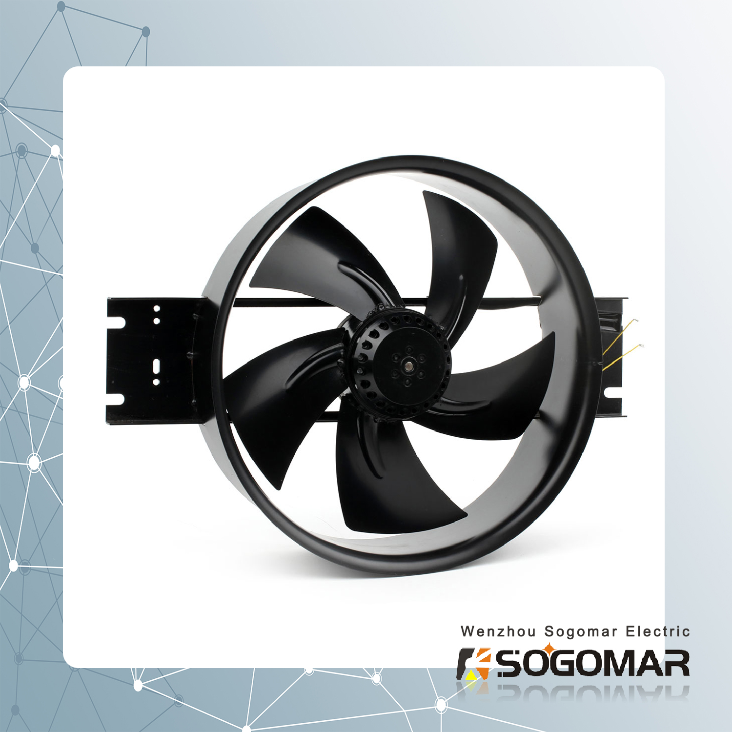 High Speed External Rotor Fan with Alloy Blades for Cabinet (250FZY2-D)