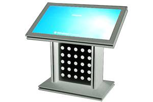 D6 Touchscreen kiosk with media player