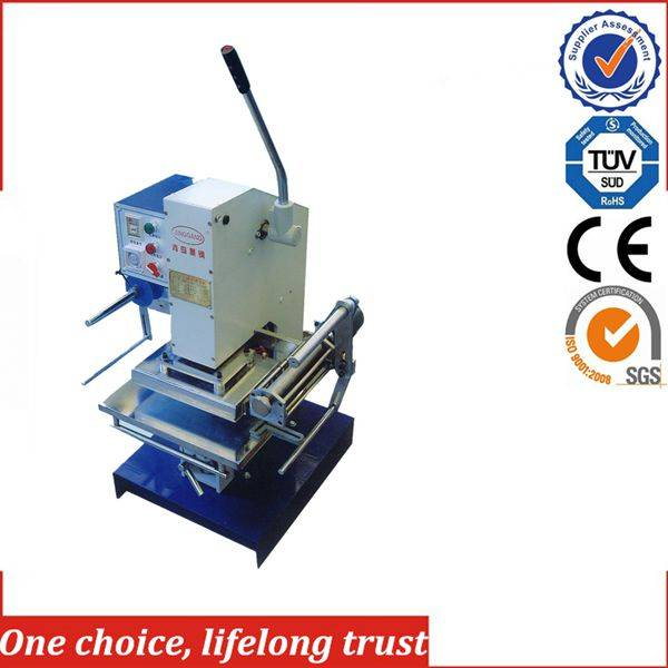 TJ-30 small manual leather embossing machine hot foil stamping
