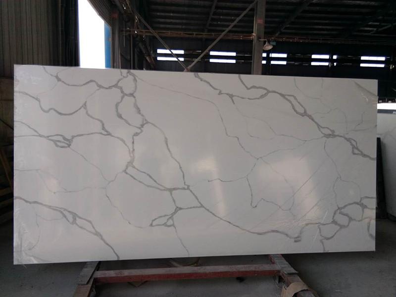 Calacatta white quartz slab ,quartz stone manufacturer in china SQ9002