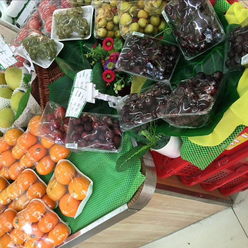 Fruit cushion for supermarket