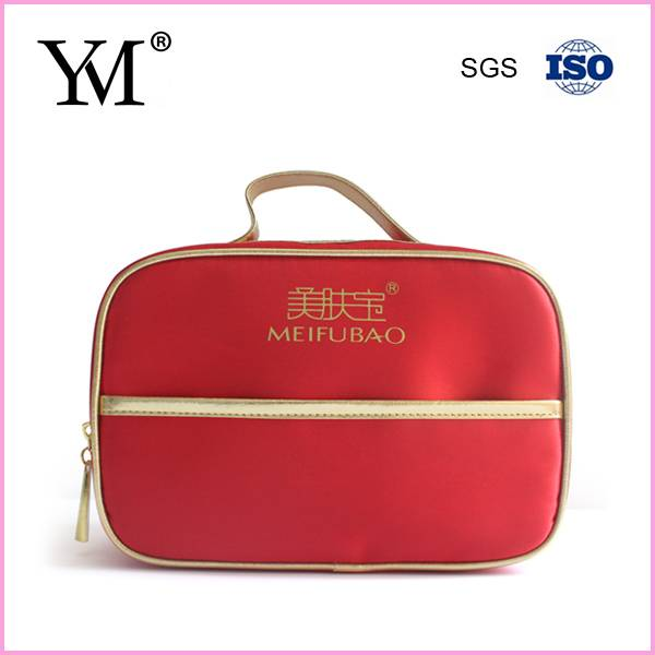 lady satin cosmetic bag beauty set bag China