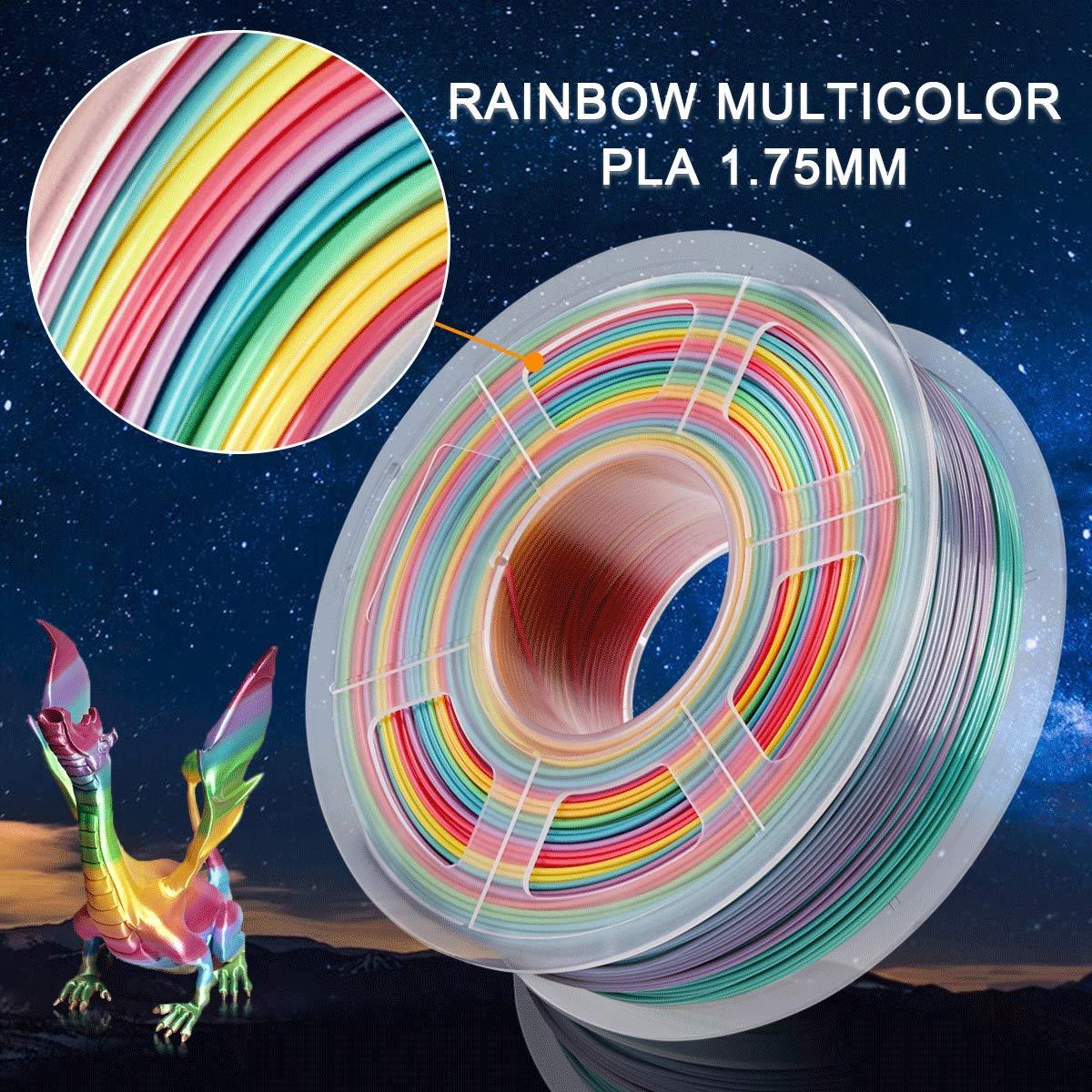 Eco Friendly China 3D Printer 3D Filaments Rainbow color