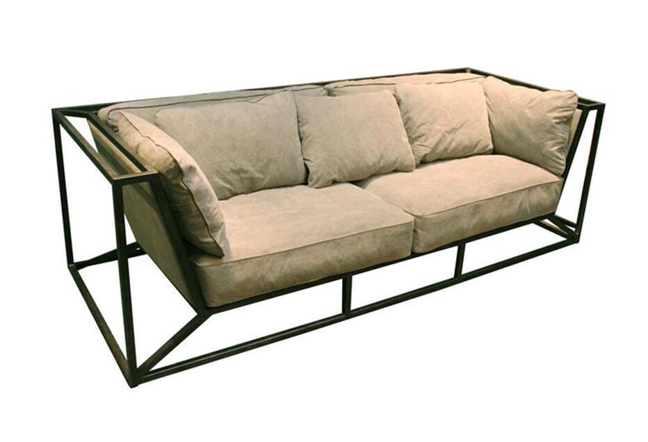 Industrial Design Metal Frame Sofa for Living