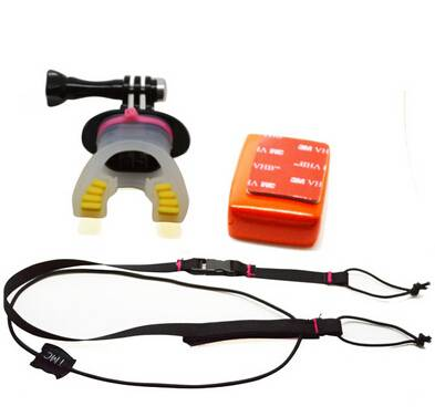 Basecent Sport Camera Mouth Mount Set With Floaty Block & Rope-BC215