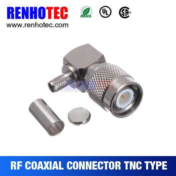 TNC Plug R/A Crimp connector Cable: RG58/RG59/RG6/RG174