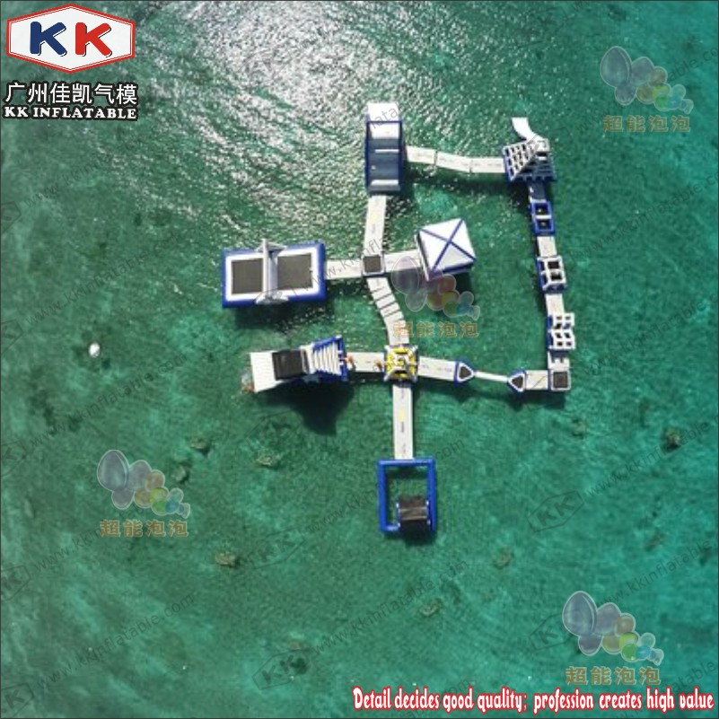 Inflatable Water Sports Park, Inflatable Commercial Water Park For Outdoor Entertainment
