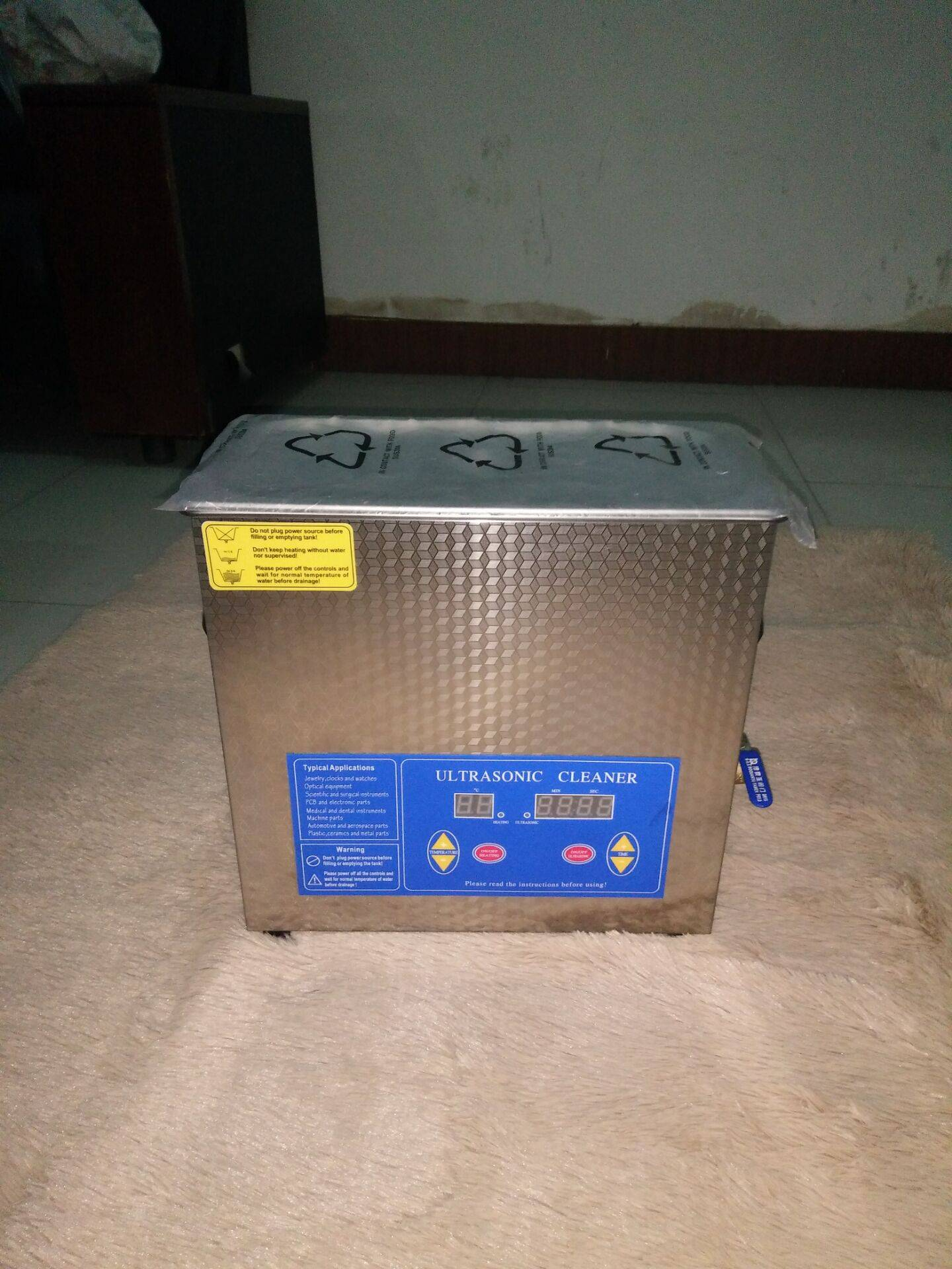 Stainless Steel 3L Ultrasonic Cleaner (MEK-3L)
