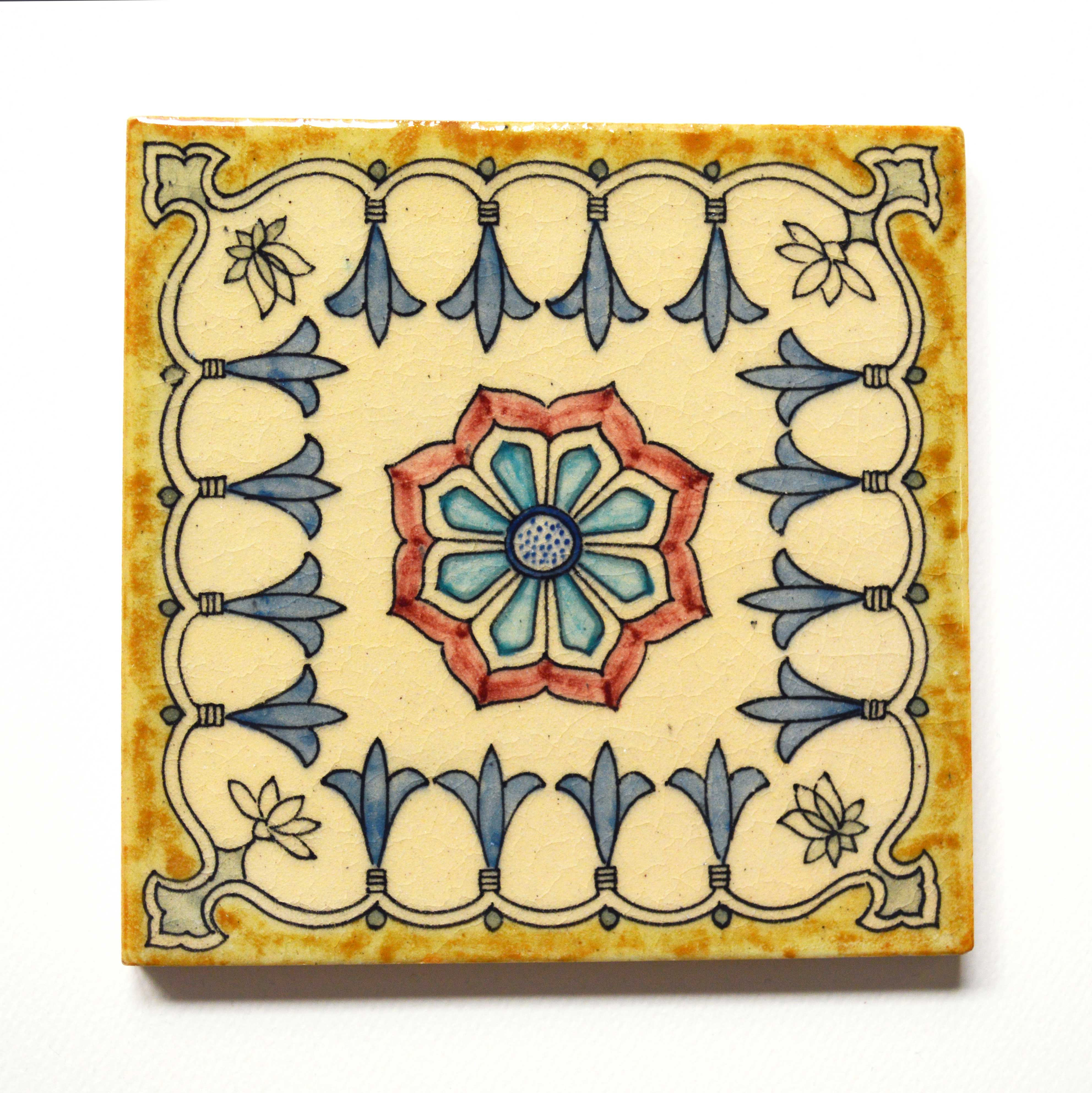 Hand Painted Ceramic Tile No.15