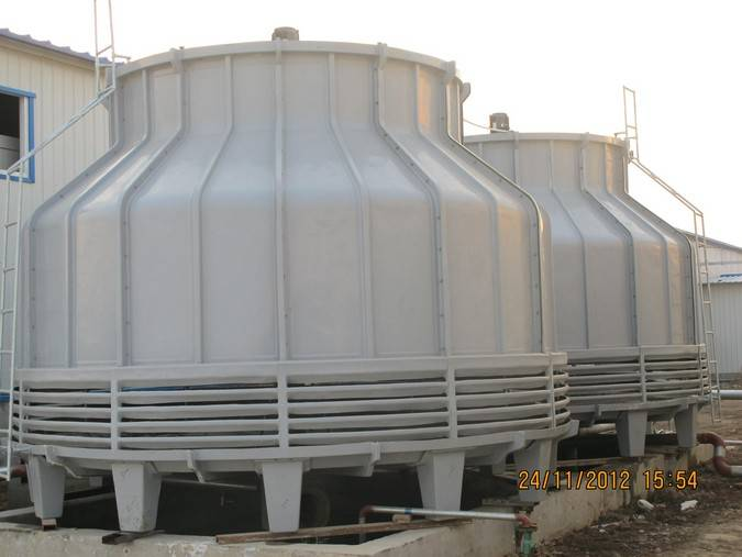Round shape counter flow cooling tower 100 tons/h