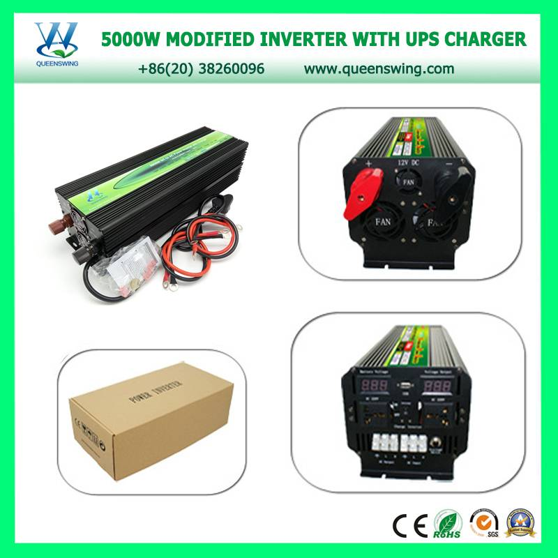 Big Power Inverter 5000W 12Vdc 220Vac Inverter Charger 20A UPS Inverters USB (QW-M5000UPS)