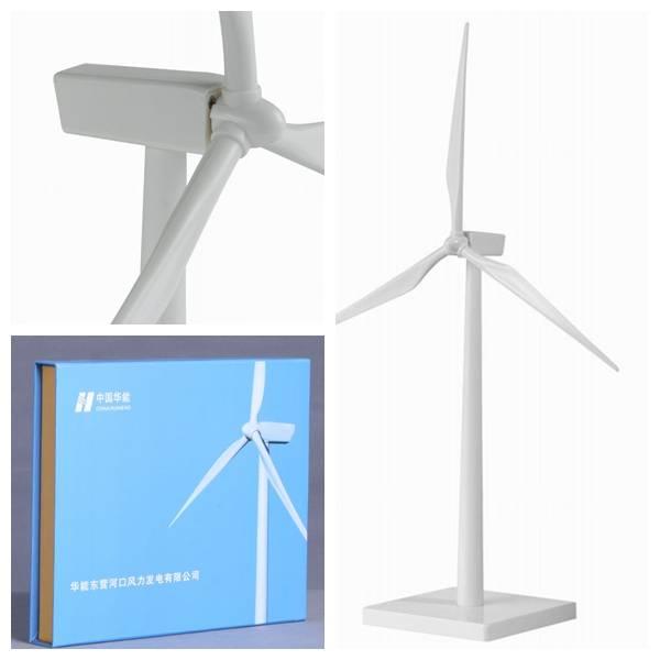 Plastic Wind Turbine Model for Office Decorations