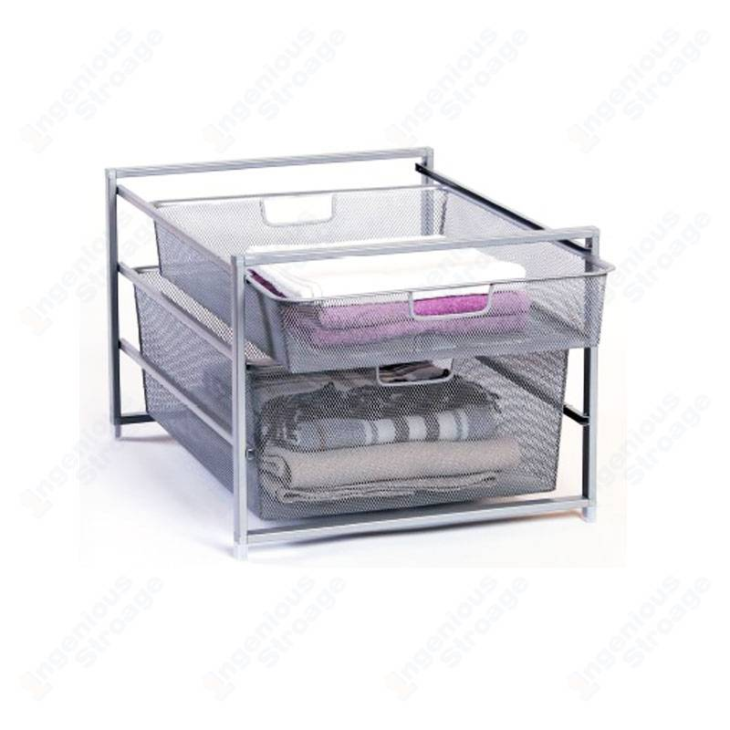 Mesh Storage Basket Drawer System