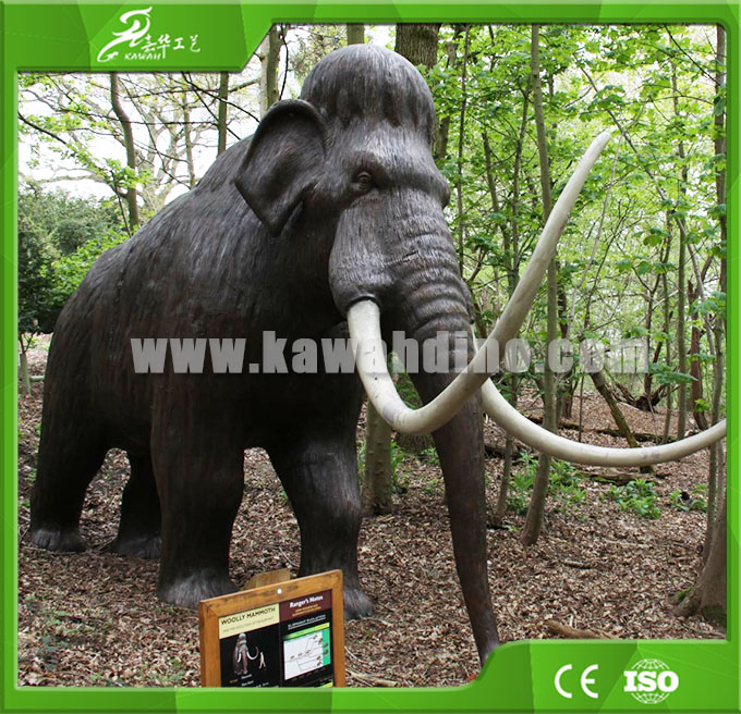 KAWAH Factory supply Museum Life Size Artificial Animatronic Mammoth