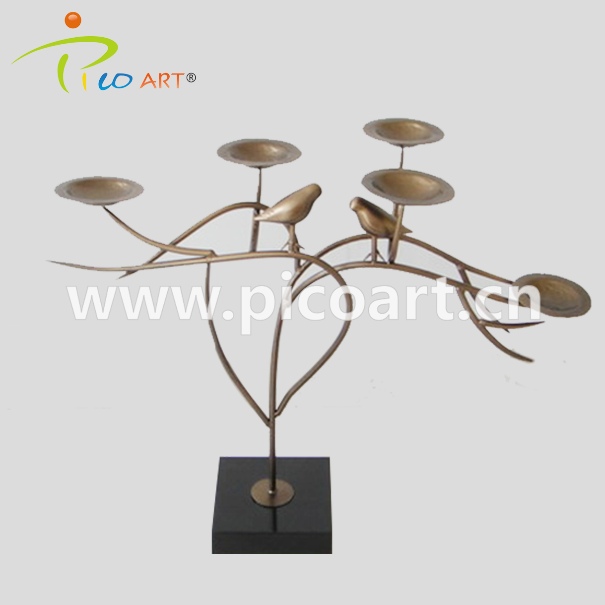 Outdoor Garden Bespoke Wrought Iron Metal Tree Sculpture For Sale