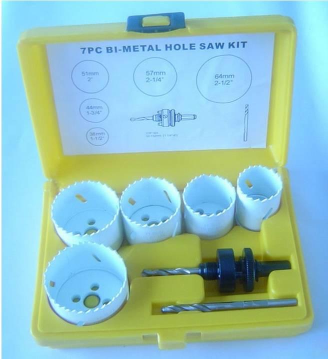 1-1/2 In - 2-1/2 In Bi-Metal Hole Saw Assorted Kit 7 Pc