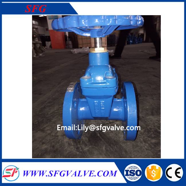 DIN F4 resilient seated gate valve with high quality