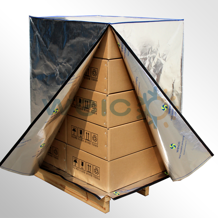 Aluminum Foil Woven Fabric Thermal Pallet Cover for Transportation