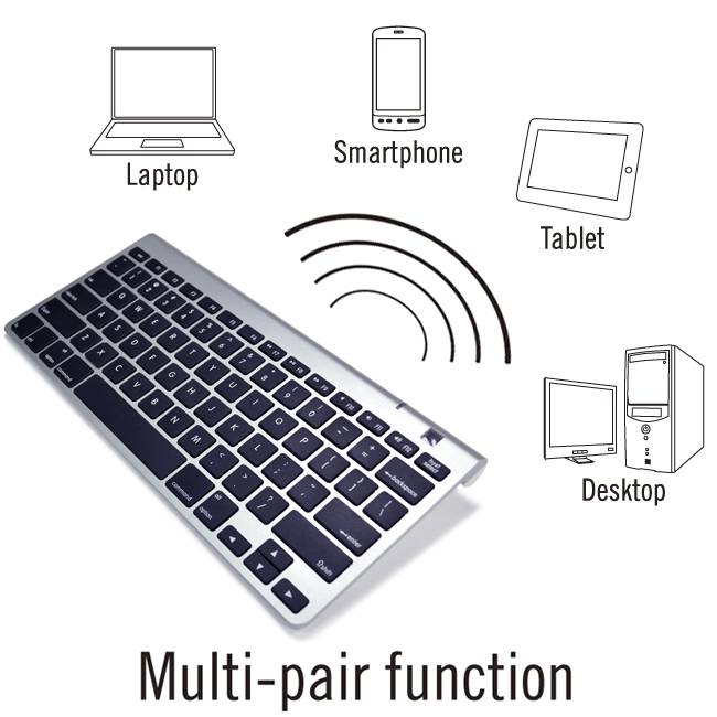 Compact Bluetooth PC / MAC Compatible Keyboard WKB-803A