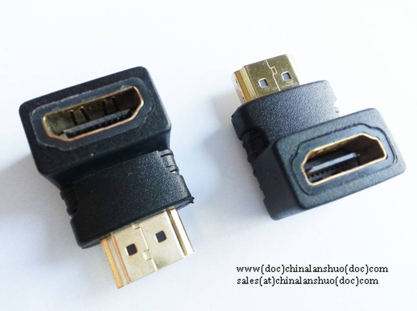 HDMI A male to HDMI Female 90 degree adapter (pattern)