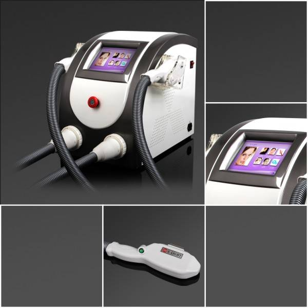 Double handle portable Elight hair removal and acne treatment beauty machine, DM-9005T, CE approved