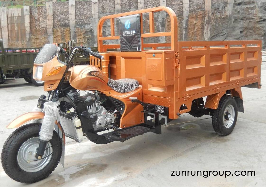 ZR200ZH-2 200cc water cooled cross cargo box heavy load gasoline motor tricycle