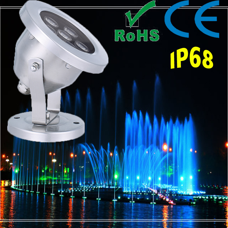 Stainless Steel LED Underwater Light for Music Fountain