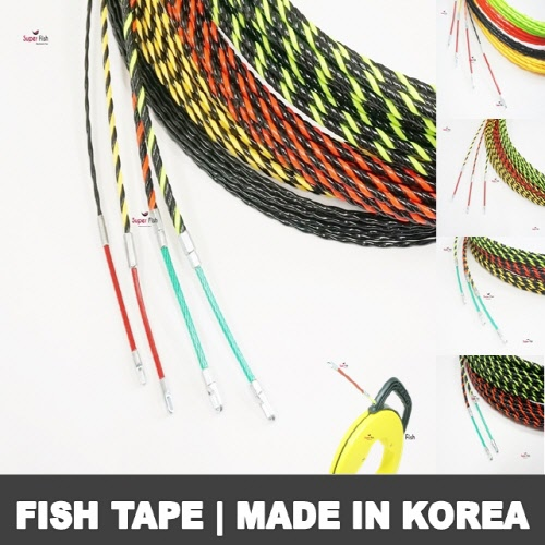 New fish tape with non-conductive PET material