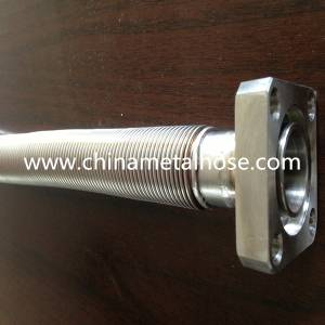 high temperature stainless steel 304 flexible metal hose with fittings