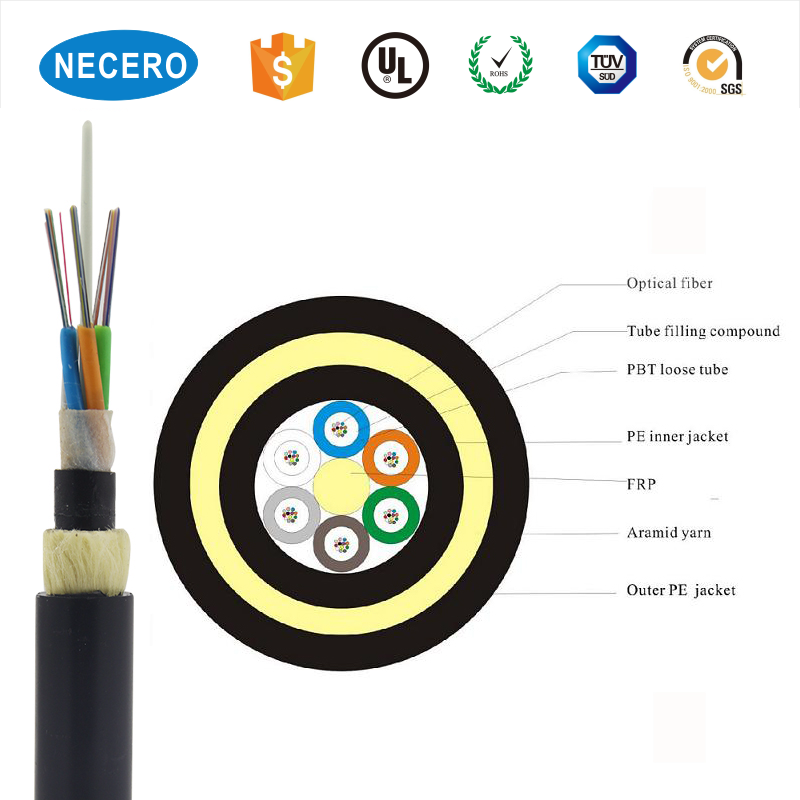 High Quality Outdoor factory price manufacturer of fiber optic cable ADSS