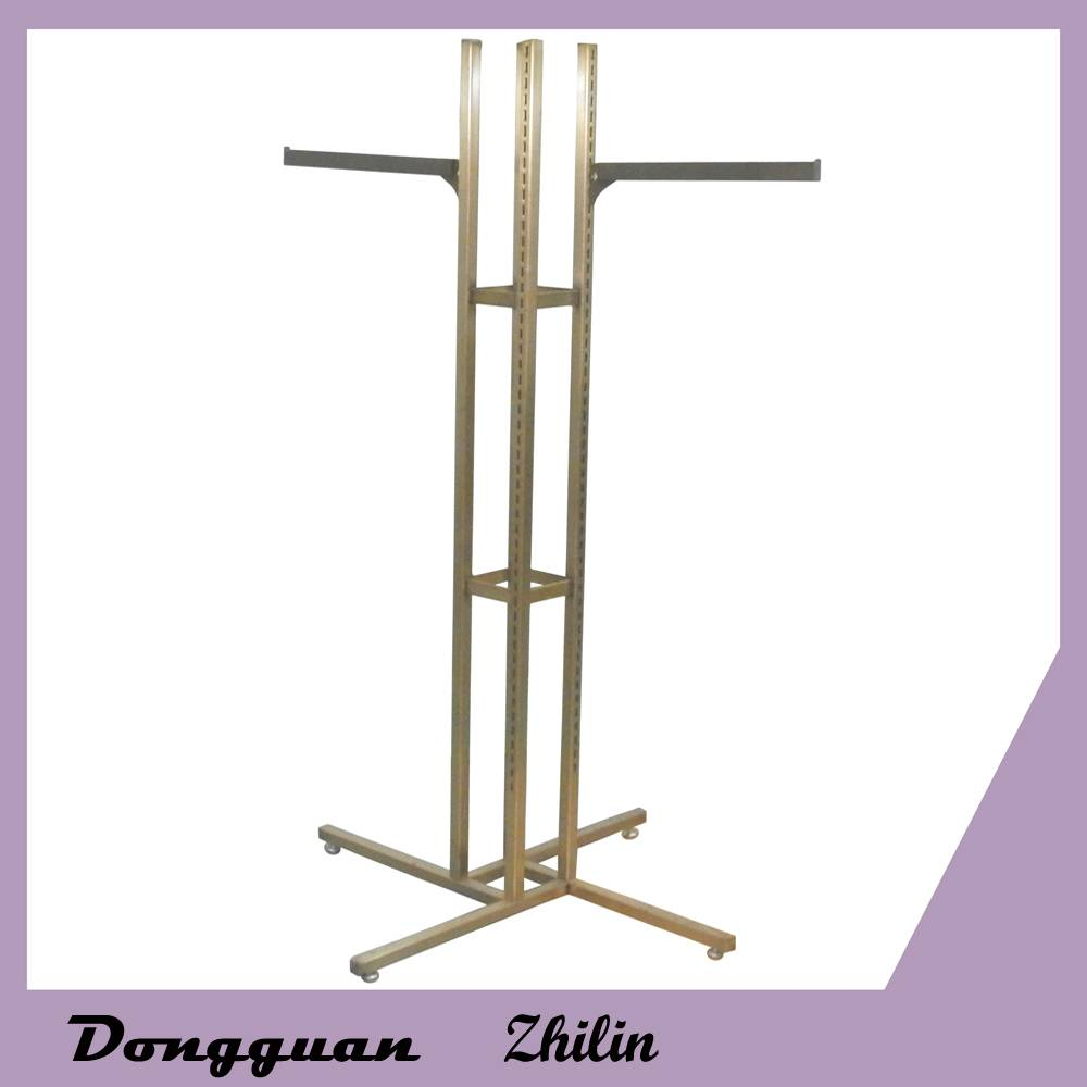 New fashion red copper brushed finishing clothes display rack