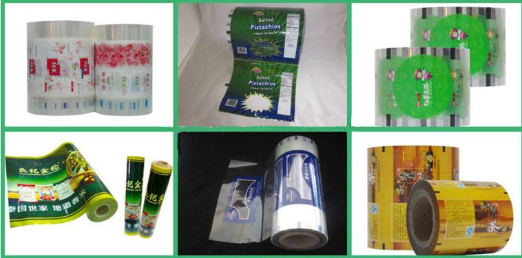 food packaging plastic roll film/food grade plastic film roll/plastic film roll