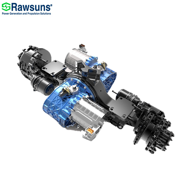 128KW 216000Nm dual electric motor central drive axle with transmission ev conversion kit for 12 me