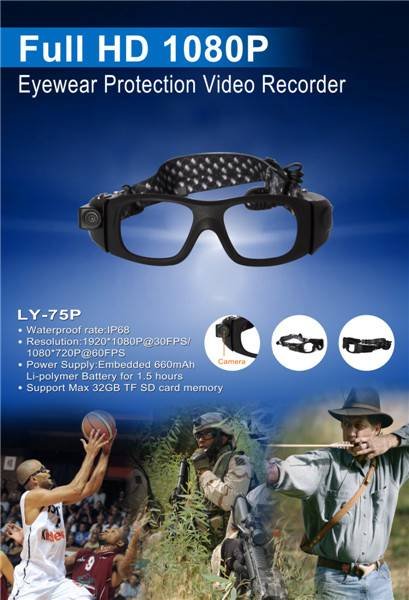 Full HD sports camera Protection  Goggle Camera LY-75P