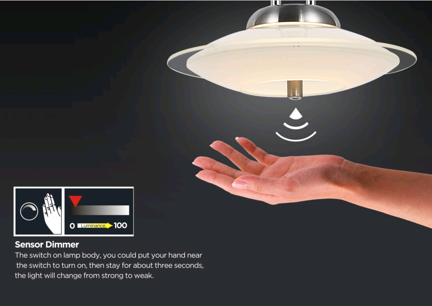 9W IRON STAIN NICKEL LED PENDANT LIGHT -P60011