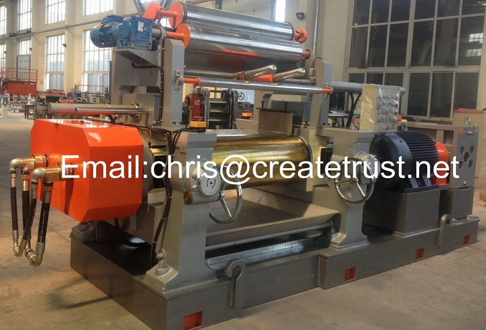 two roll open rubber mixing mill/two roll mill/rubber mixing machine