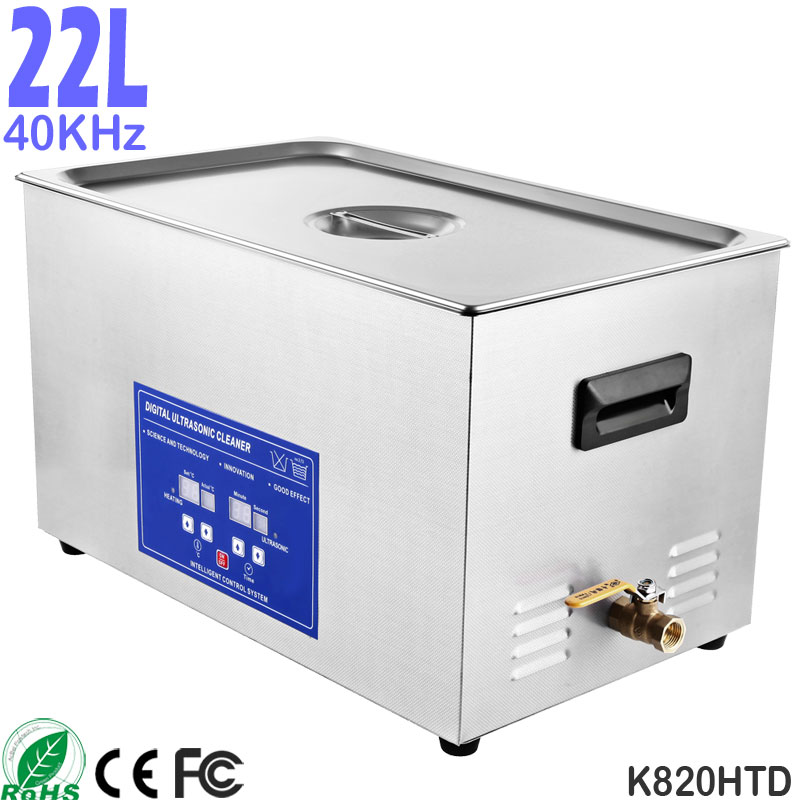 K820HTD 22L Large Capacity Commercial Benchtop Ultrasonic Cleaner