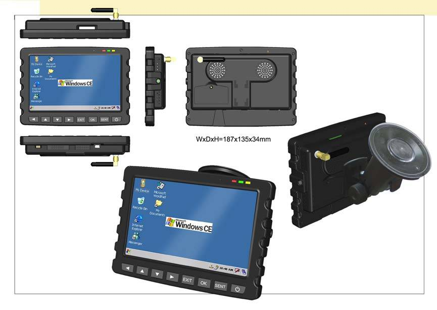 7' LCD taxi GPS dispatching Mobile Data Terminal(MDT) MDT700