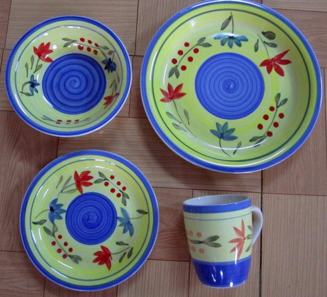 bulk design stoneware 16pcs dinnerware sets