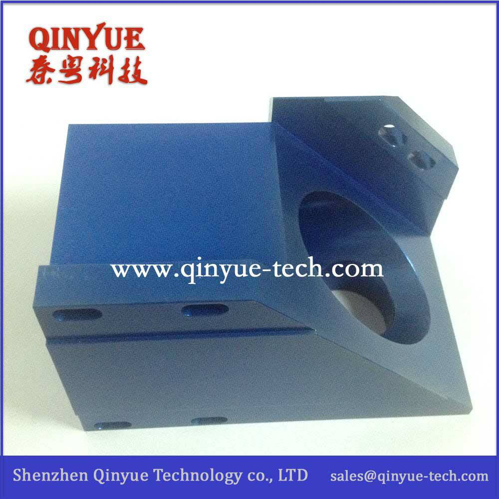 Anodizing Blue with CNC machining parts