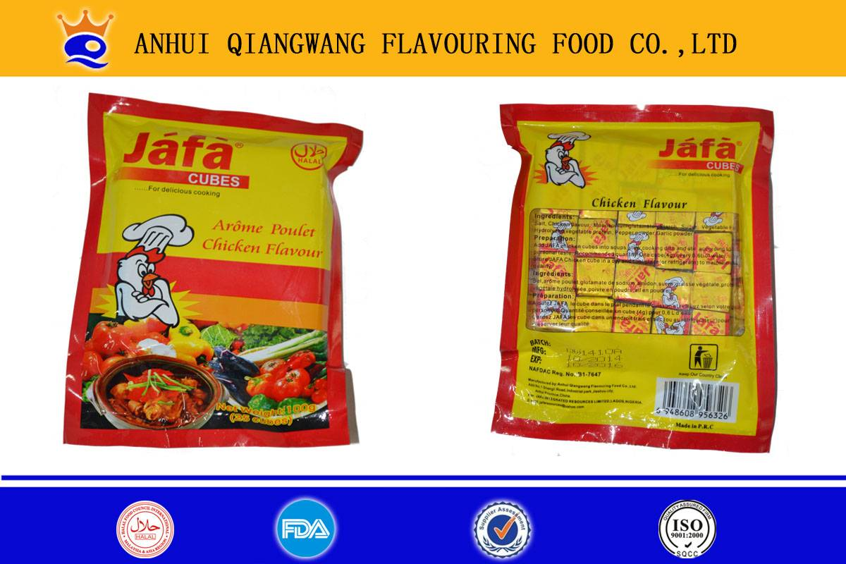 4g packing chicken flavour stock cube
