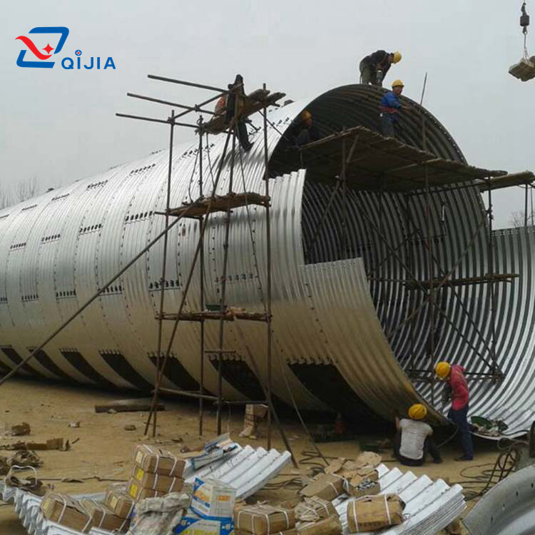 Assembly Large Diameter Galvanized Corrugated Metal Pipe