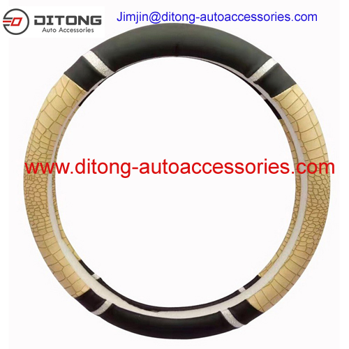 Python PU Carbon Leatherette Material Carbon Grip Car Steering Wheel Covers